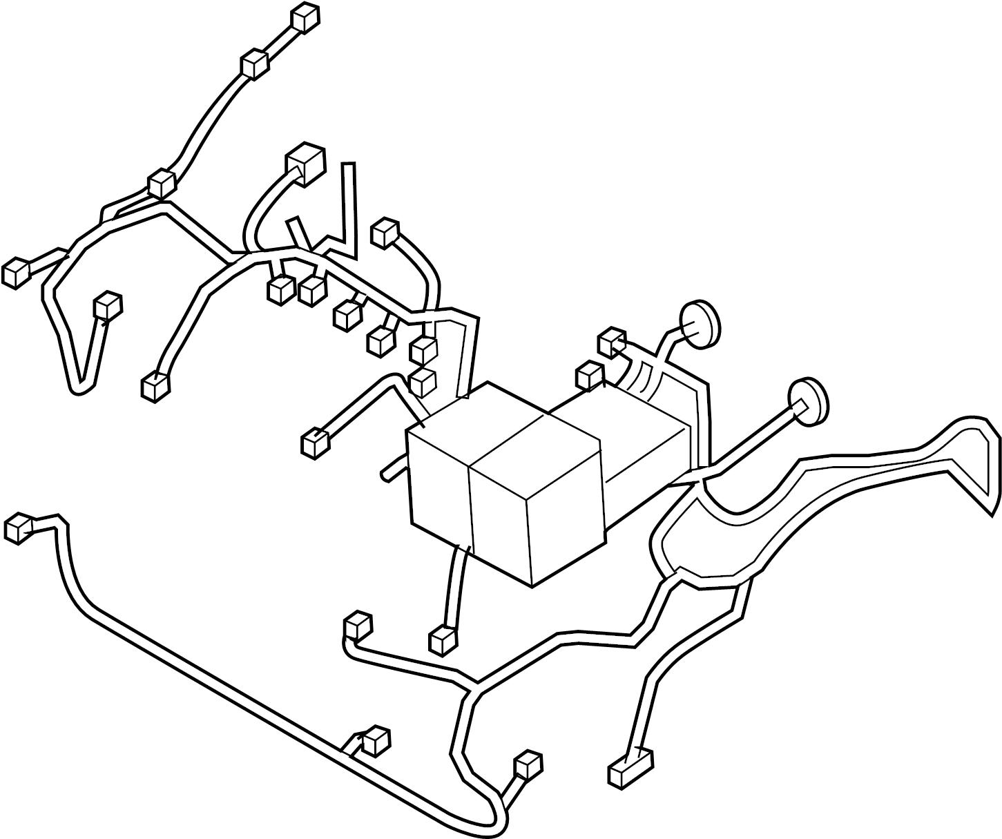 Chevrolet Aveo Engine Wiring Harness. Manual trans, w/o AC
