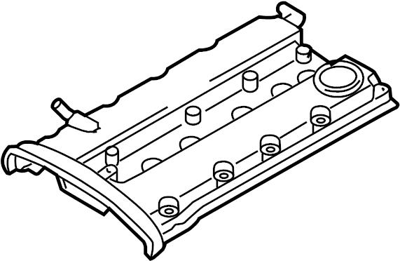 Chevrolet Aveo5 Engine Valve Cover. Aveo. Aveo, Aveo5