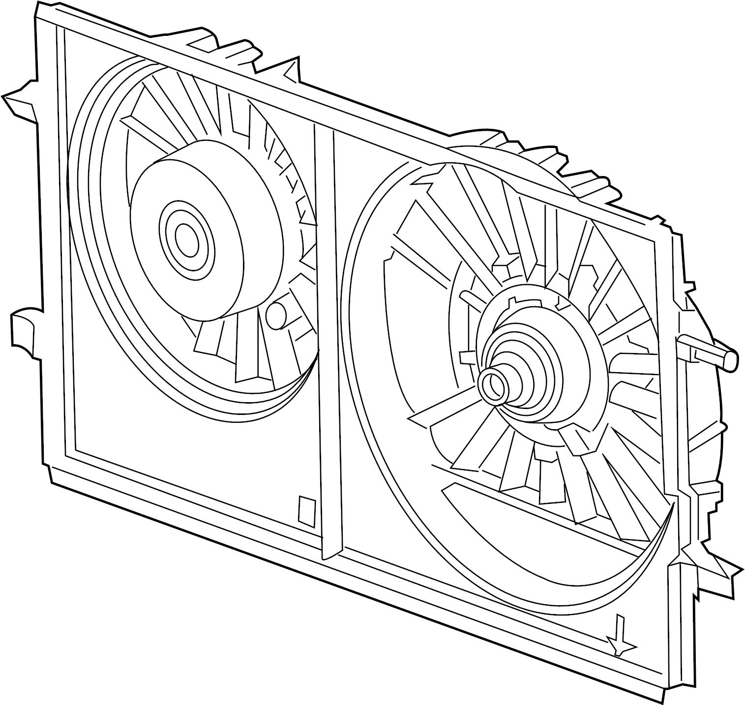 Pontiac G6 Engine Cooling Fan Assembly. LITER, RADIATOR
