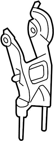 Chevrolet Malibu Mount. Bracket. Transmission. (Rear
