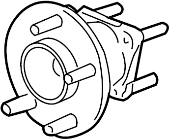 Chevrolet Malibu Wheel Bearing and Hub Assembly (Rear