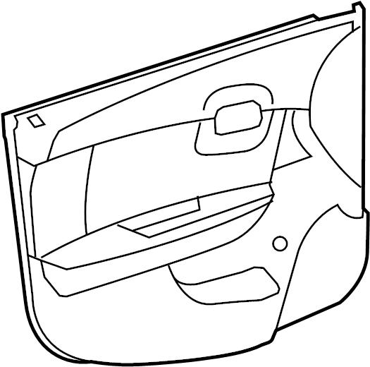 Chevrolet Malibu Door Interior Trim Panel. Ebony, LTZ