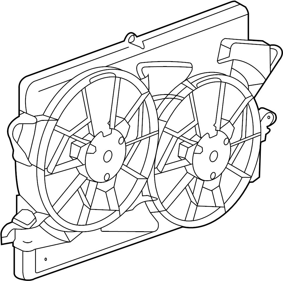 Buick Regal Engine Cooling Fan Shroud. Radiator, Make