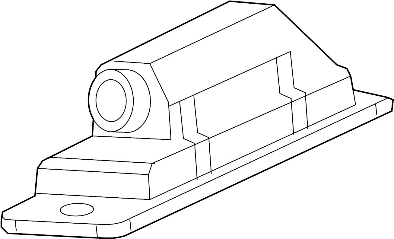 Chevrolet Volt License Plate Light Assembly Rear