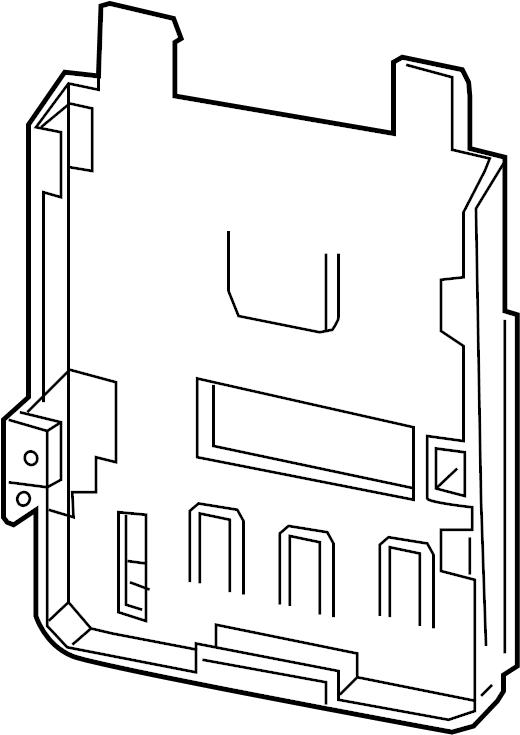 Chevrolet Malibu Engine Control Module Bracket. 1.5 LITER