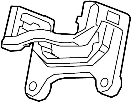Chevrolet Malibu Disc Brake Caliper Bracket (Rear). W/O