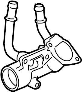 Chevrolet Equinox Engine Coolant Thermostat Housing