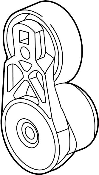 GMC Terrain Accessory Drive Belt Tensioner Assembly