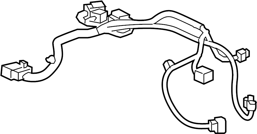 Chevrolet Spark Fuel Pump Connector. Harness Assembly