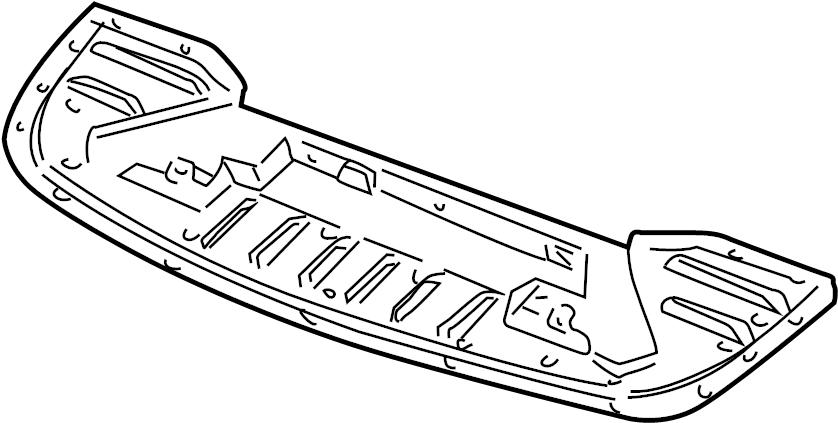 Pontiac Bonneville Radiator Support Air Deflector (Front
