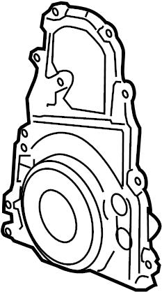 Pontiac Grand Prix Engine Timing Cover (Front). 5.3 LITER