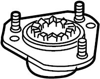 Chevrolet Uplander Suspension Strut Mount (Front, Upper