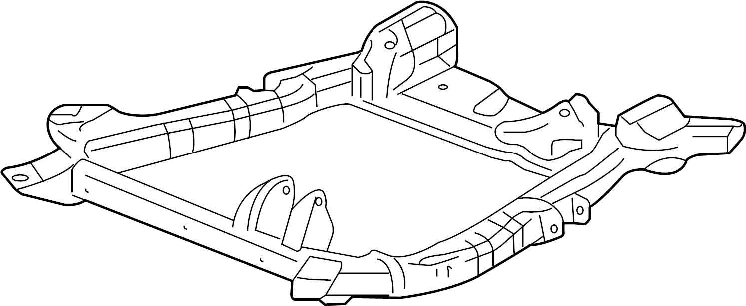 Chevrolet Equinox Engine Cradle (Front). W/GXP. W/Sport