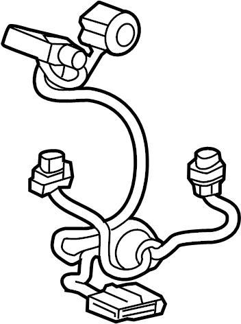 GMC Terrain Headlight Wiring Harness. Socket, FRONT, Wire
