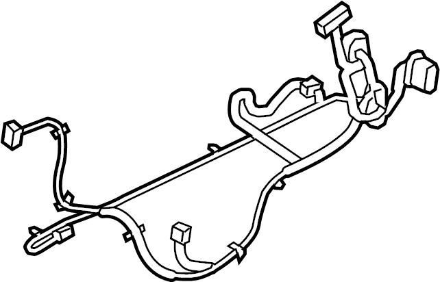 Chevrolet Equinox Door Wiring Harness. LT, w/o premium