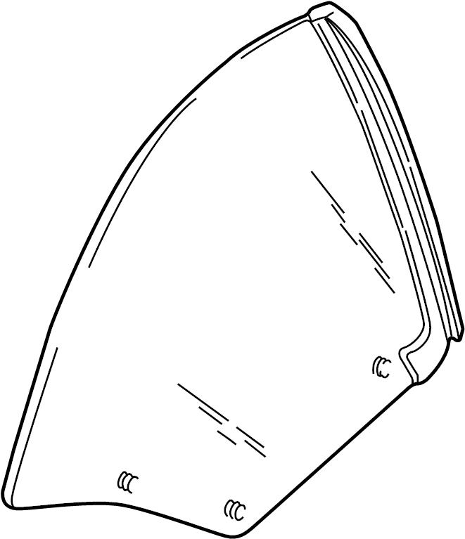 Pontiac Sunfire Quarter Glass (Rear). CONVERTIBLE, GM