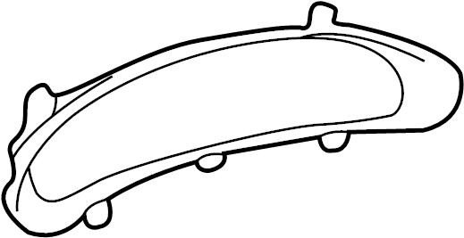 Pontiac Sunfire Instrument Cluster Bezel. Graphite