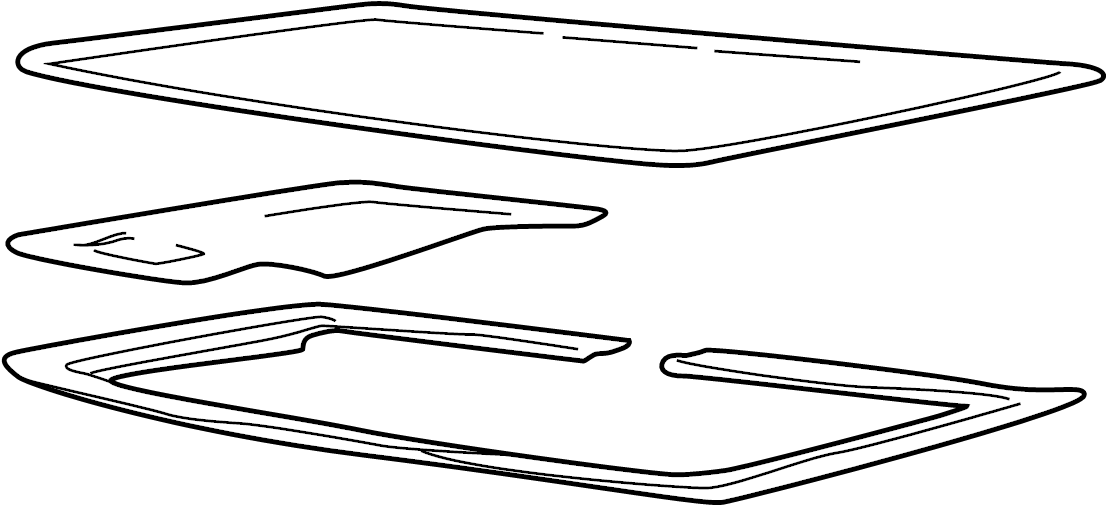 Pontiac Sunfire Sunroof Glass (Right, Front). 2 DOOR. 4