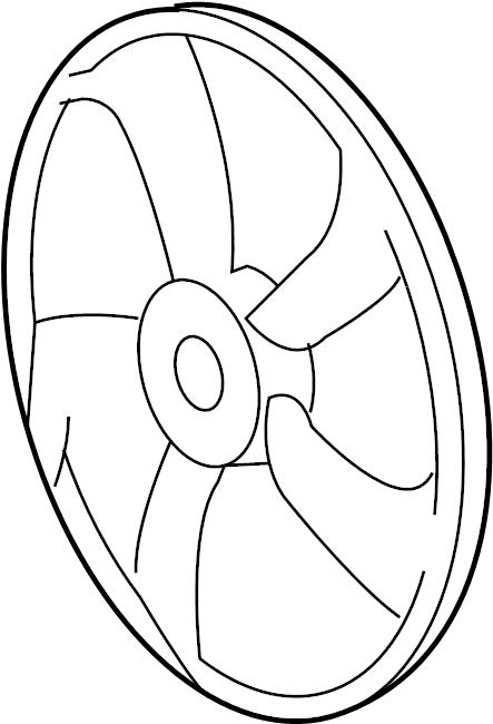 Pontiac Vibe Engine Cooling Fan Blade. Fan blade. Fan