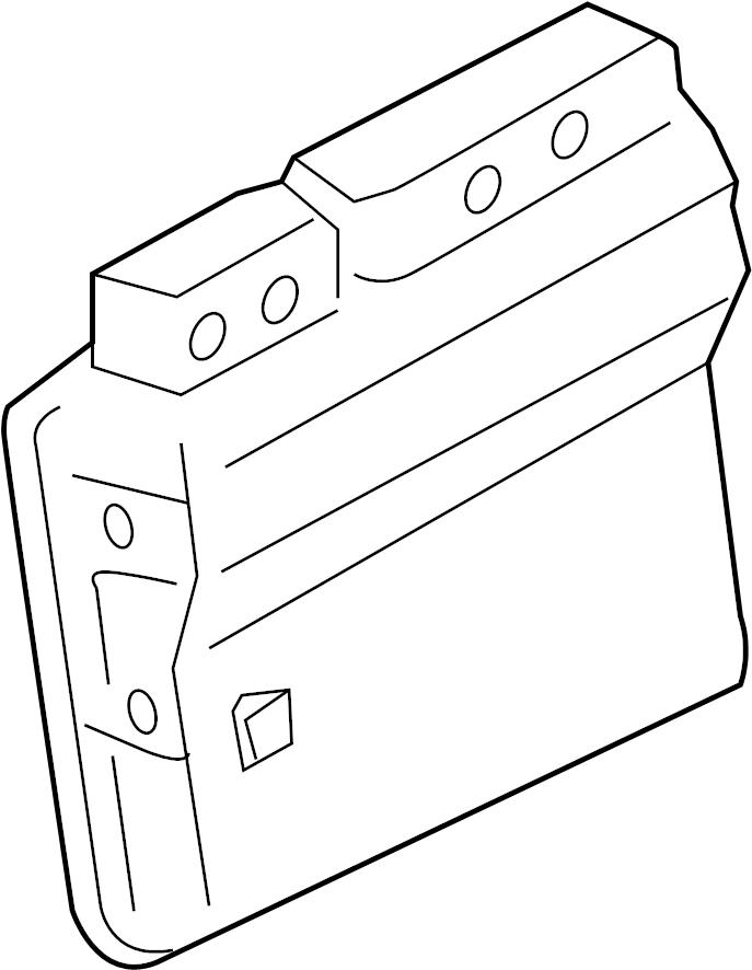Pontiac Vibe Engine Control Module. Trans, Manual, Liter