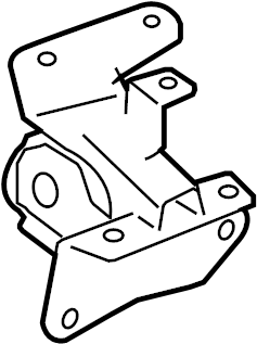 Pontiac Vibe Manual Transmission Mount. ENGINE, Replace