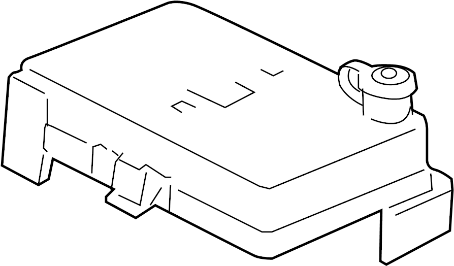 Pontiac G5 Fuse Box Cover. UNDERHOOD. UNDERHOOD, 2.2L