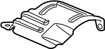 Chevrolet Cobalt Cv joint splash shield. Coupe,. Sedan,. W