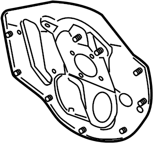 Chevrolet Cobalt Dashboard Panel Brace. Manual trans