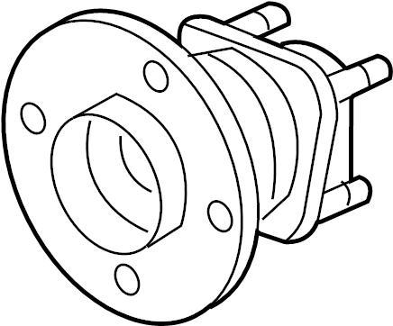 Chevrolet Cobalt Wheel Bearing and Hub Assembly (Rear