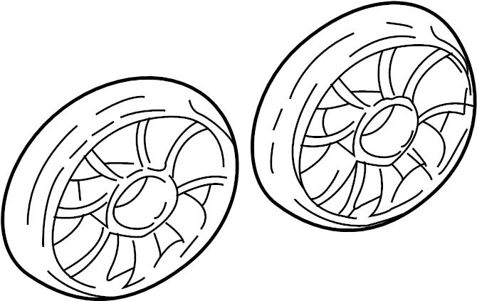 Chevrolet Malibu Engine Cooling Fan Blade. Engine Cooling