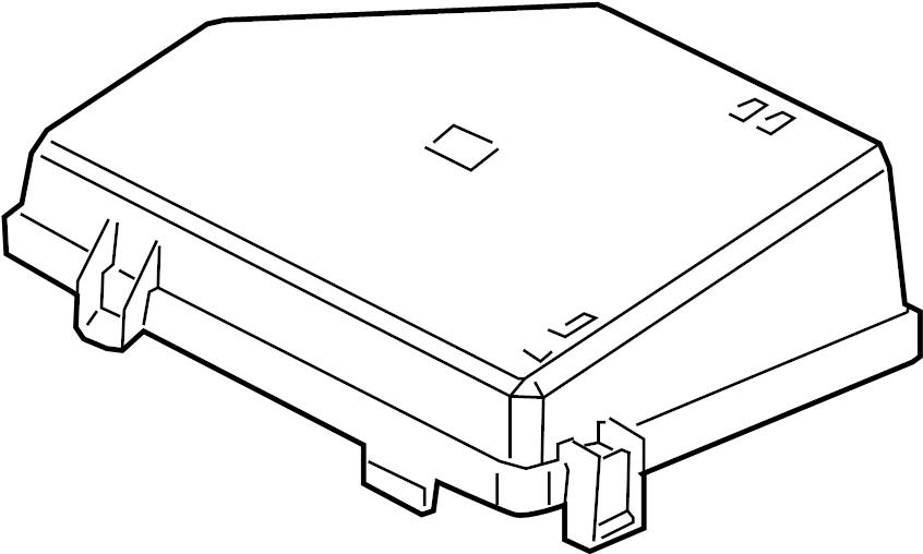Pontiac G8 Fuse Box Cover (Upper). ENGINE COMPARTMENT