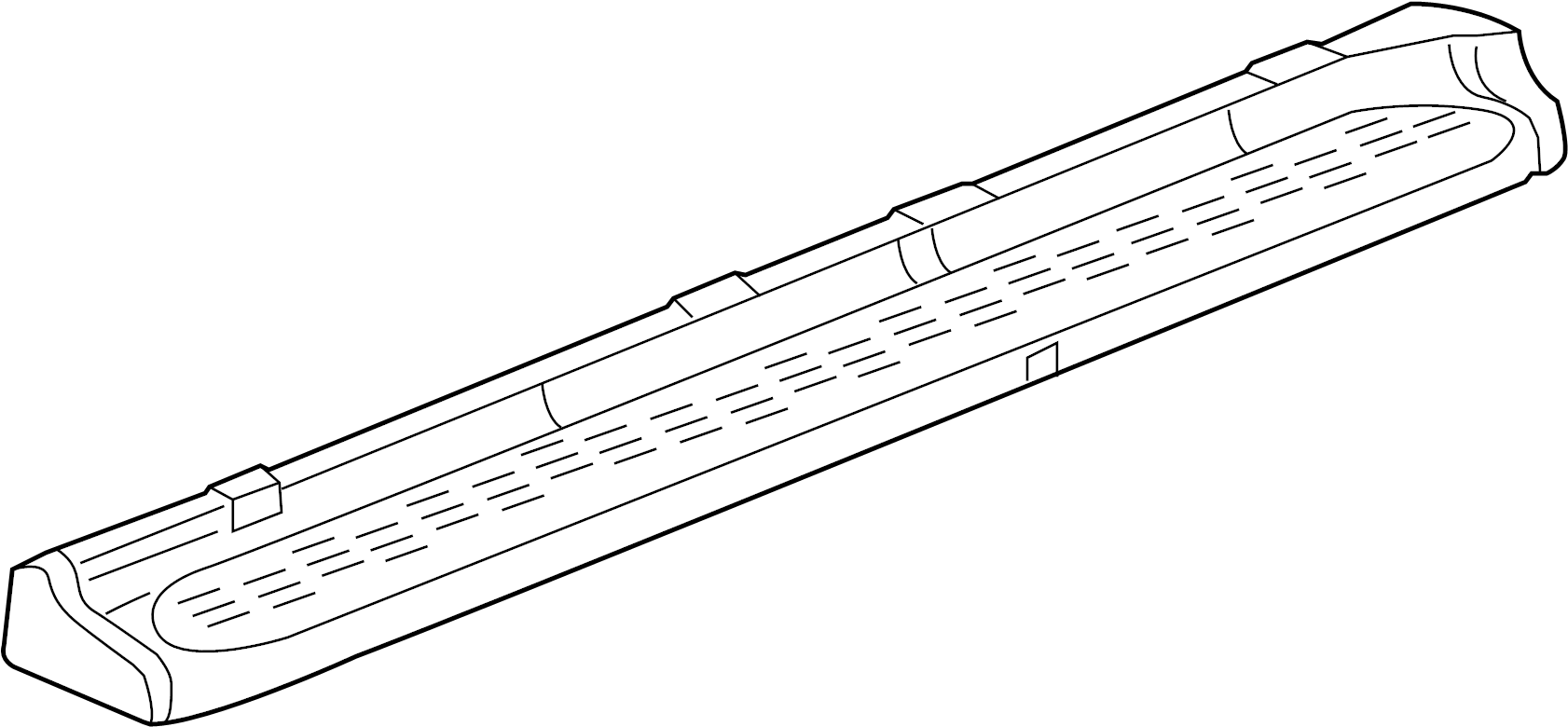GMC Yukon XL 1500 Running Board. TYPE 1, W/DENALI, 2005-06