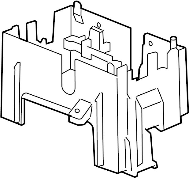 Chevrolet Avalanche Fuse Box Bracket. Junction Block