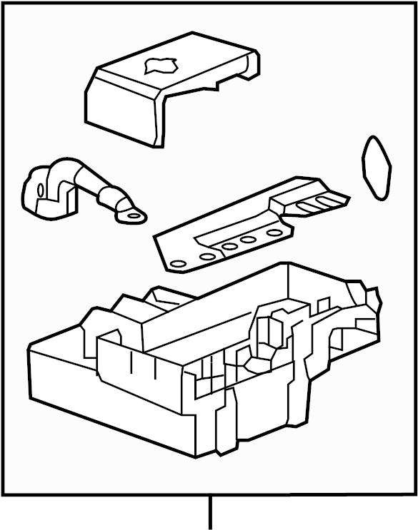 Cadillac Escalade Distribution box. Fuse Box. Junction