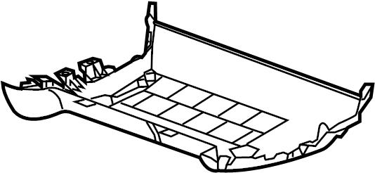 GMC Yukon XL Seat Frame Trim Panel. SPLIT BENCH, 60% SIDE