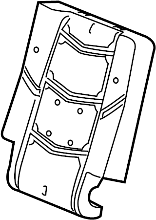 GMC Yukon XL Seat Back Cushion. BUCKET SEAT, DRIVER SIDE