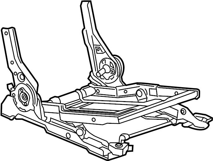 GMC Yukon XL Seat Frame. 40% SIDE, MANUAL. SEATS