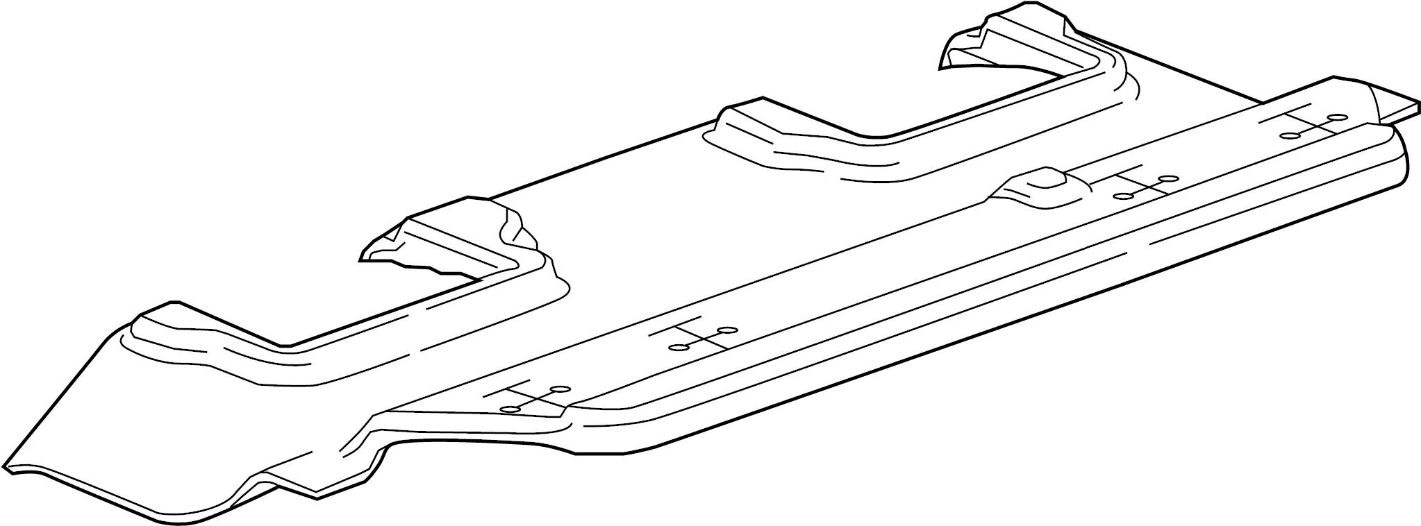 GMC Yukon XL Seat Track Cover. Seats, ROW, Cocoa