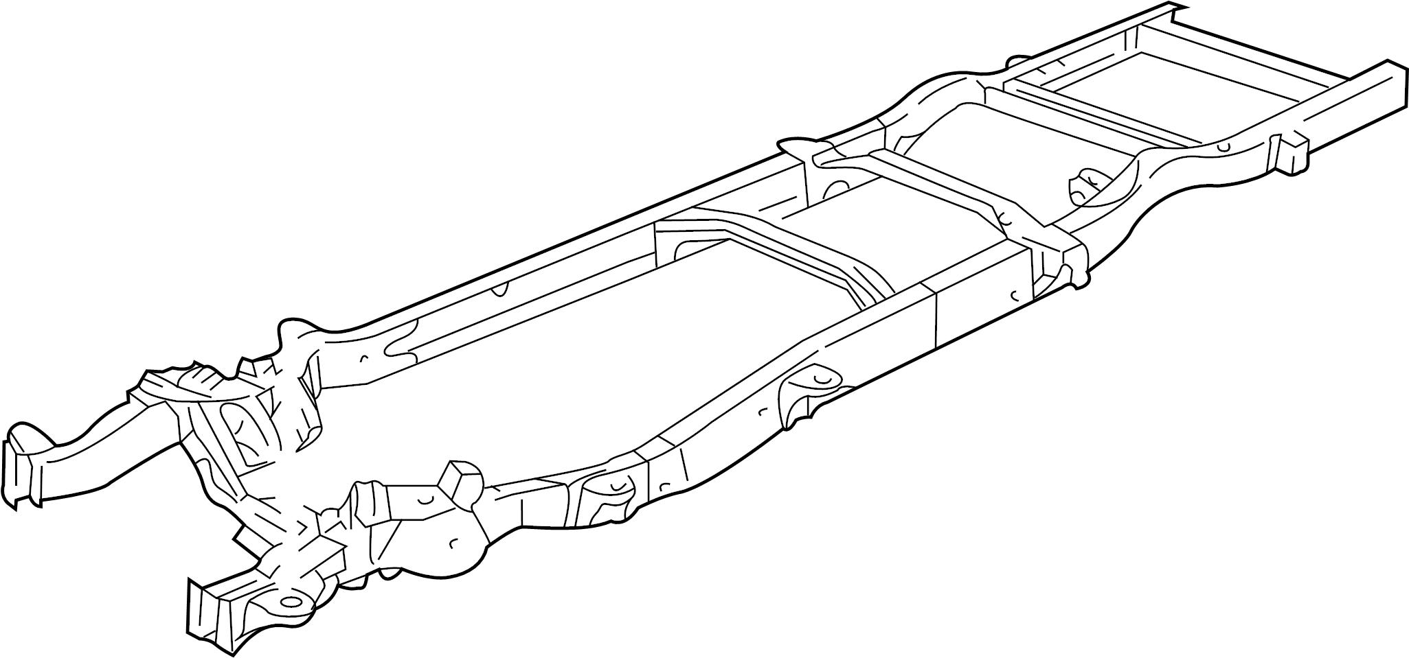 GMC Savana 2500 Frame Rail. All, long wheelbase, w/o