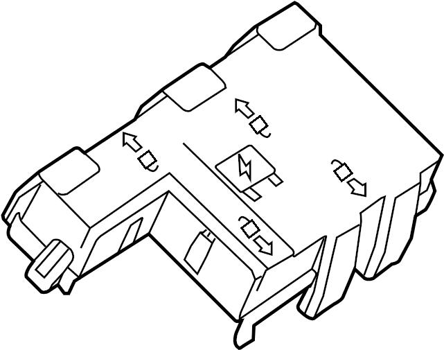 GMC Savana 2500 Junction Block Cover (Upper). JUNCTION
