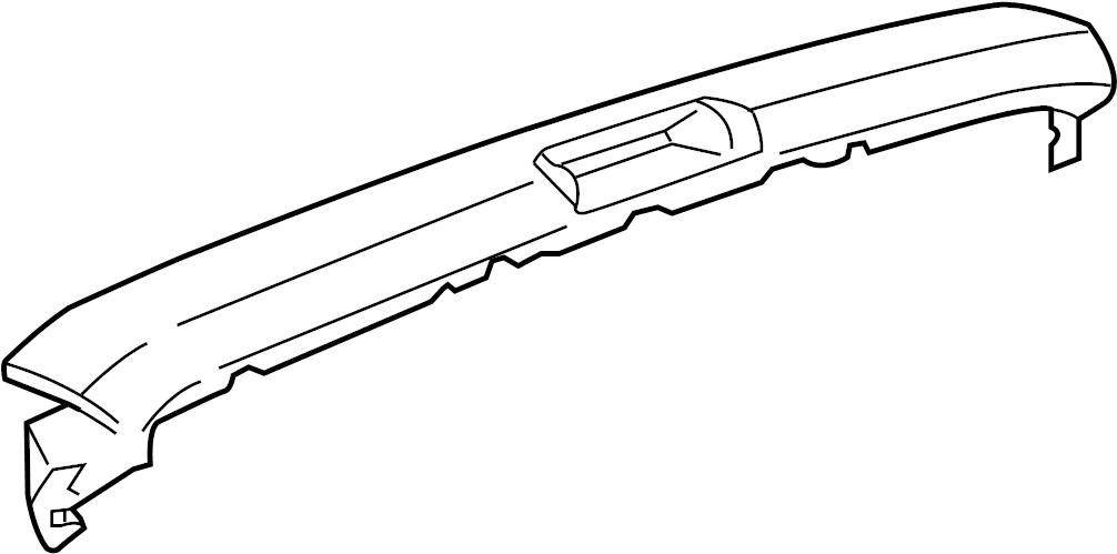 GMC Savana 2500 Rear Body Panel Molding (Rear, Upper