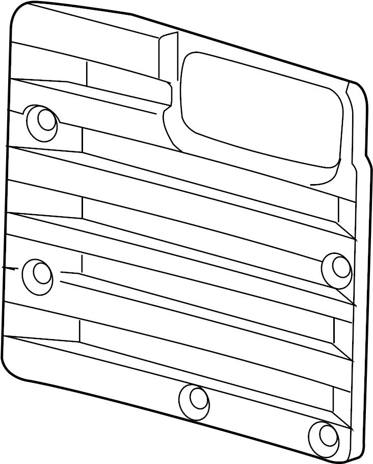 GMC Savana 3500 Door Interior Trim Panel (Rear). W/O