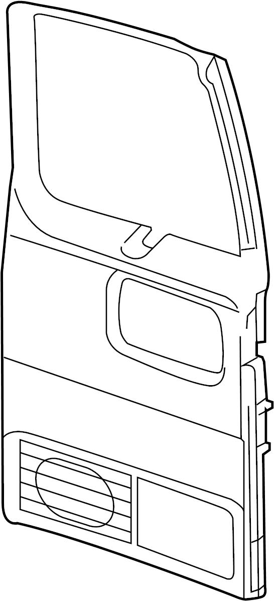 GMC Savana 3500 Door Interior Trim Panel (Rear). W