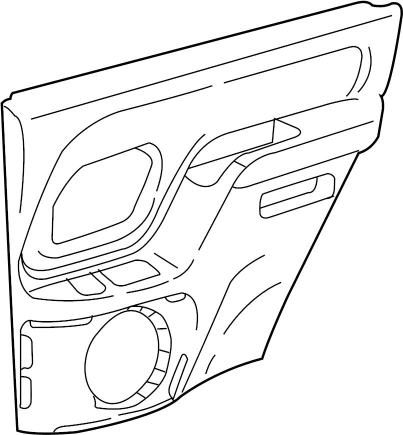 GMC Sierra 2500 HD Door Armrest. Neutral, SLE, Left