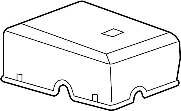 GMC Sierra 2500 HD Cover. Fuse. Box. (Upper)., ENGINE