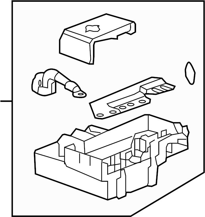 GMC Yukon XL Distribution box. Fuse Box. Junction block. A