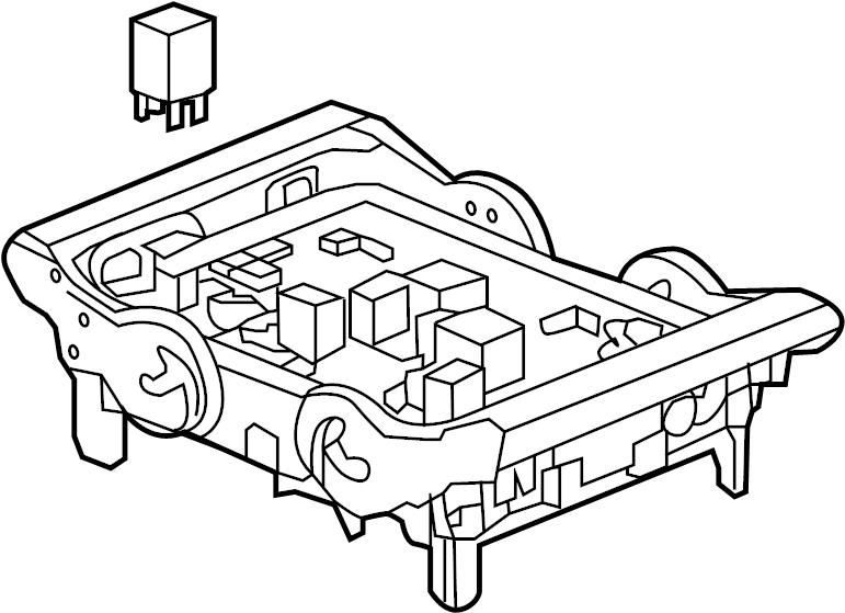 Cadillac Escalade Junction Block. ENGINE COMPARTMENT