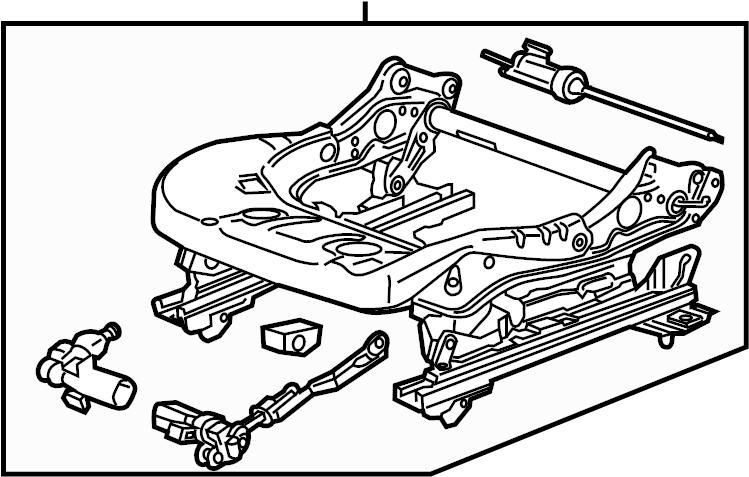 Cadillac Escalade Frame. SPLIT BENCH SEAT, w/o power