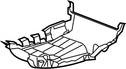 GMC Yukon Seat Frame Trim Panel. BUCKET SEAT-LH SIDE