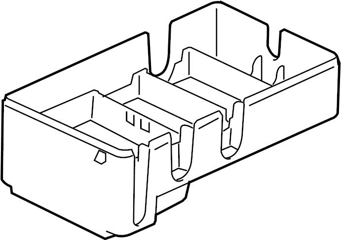 Chevrolet Colorado Fuse Box Cover (Lower). JUNCTION BLOCK